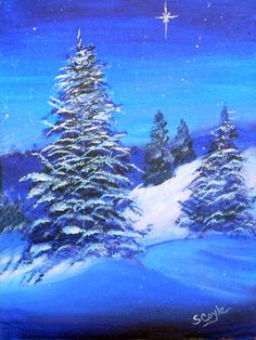 christmas holiday card paintings - Google Search
