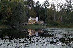An Abstract New England Lake House That Sinks Into the Land | Dwell