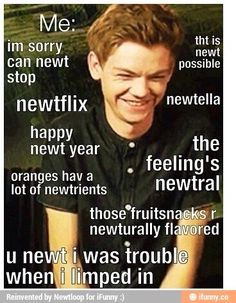 I am a lover of puns. And a lover of the maze runner. And a lover of newt. So this is perfect!