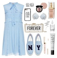 """""""Baby Blue"""" by trendsetter12 ❤ liked on Polyvore featuring N°21, Joshua's, Kate Spade, Casetify, Linda Farrow, Elizabeth Arden, Christian Louboutin, Edward Bess, NARS Cosmetics and Herbivore"""