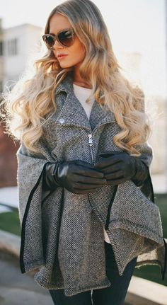 #Moto #Cape by Barefoot Blonde => Click to see what she wears