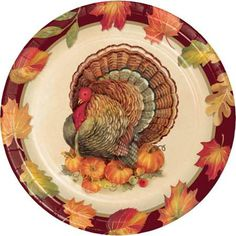 One case of 96 Turkey Traditions 9 inch Lunch/Dinner Printed Paper Plates. 12 packages of 8 Turkey Traditions 9 inch Lunch/Dinner Plates for a total of 96 plates. Party Plates, Party Tableware, Cake Plates, Dinner Plates, Dessert Plates, Thanksgiving Lunch, Thanksgiving Cakes, Thanksgiving Signs, Vintage Thanksgiving