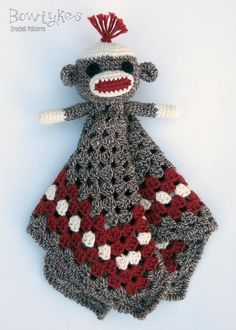 Resultado de imagen para crochet sock monkey pants