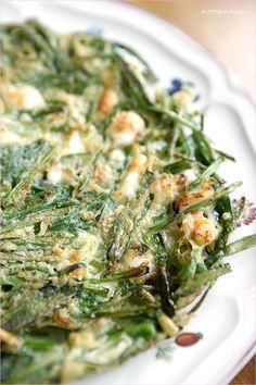 Buchujeon (Korean chive & shrimp pancake)