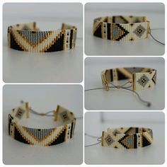 Beads miyuki woven Inca motif bracelet different colors