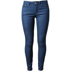 ACNE 'Skin 5 Soul Sling' Denim Jeans ($240) ❤ liked on Polyvore featuring jeans, pants, bottoms, calças, pantalones, blue skinny jeans, acne studios jeans, denim jeans, slim leg jeans and cropped skinny jeans
