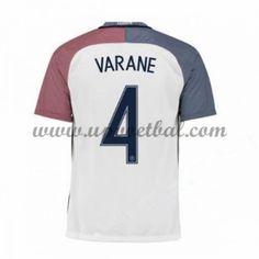 Goedkope Voetbalshirts Frankrijk Elftal Tenue 2016 Raphael Varane 4 Korte Mouw Uitshirt