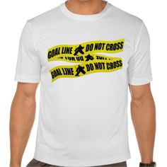 Funny Hockey Goalie Crime Tape T-Shirt. All designs are available on many styles of t-shirts and hoodies! To see more #hockey tees, please check out my store: http://www.zazzle.com/gamefacegear*/