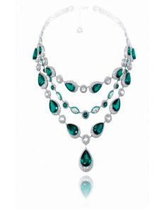 GABRIELLE'S AMAZING FANTASY CLOSET | Chopard | Multi-Shape, Blue & Green Tourmaline & Diamond Triple Strand Necklace |