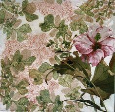 """ROSETHORNE """"hibiscus"""" collage"""