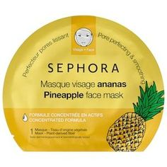 Skin Care Remedies Shop Sephora Collection's Face Mask – Pineapple at Sephora. This face mask features a new bio-fiber to perfectly hug facial contours for more effective results. Skin Care Regimen, Skin Care Tips, Skin Tips, Beauty Care, Beauty Skin, Pineapple Face, Diy Masque, Perfume, Shopping