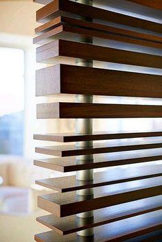 Fabulous wood slat room divider
