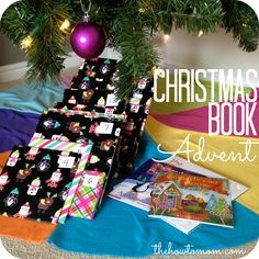 Wrap a Christmas book for the kids to open each night until Christmas! PLUS a list of over 30 great suggestions for your collection. via The How To Mom