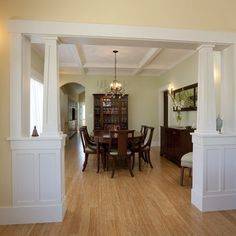 Open Concept Dining Room Living Room With Pillars Design, Pictures ...