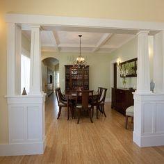 ... walls on Pinterest | Half Walls, Interior Columns and Room Dividers