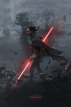 Star Wars: Episode IX - The Rise of Skywalker x Star Wars Sith, Star Wars Kylo Ren, Star Wars Fan Art, Images Star Wars, Star Wars Pictures, Rey Cosplay, Star Wars Characters, Star Wars Episodes, Star Wars Brasil