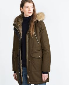 Manteau parka femme zara