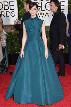 Felicity Jones - Golden Globes 2015