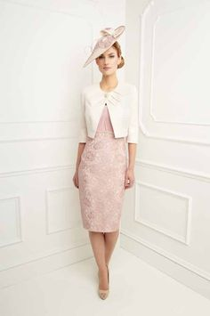 Fitted Dress in Dusty Pink by John Charles (FD627)