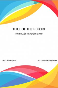 cover page 07 Cover Page Template Word, Word Template Design, Certificate Design Template, Essay Template, Graphic Design Templates, Word Templates, Report Template, Book Cover Page, Cover Pages