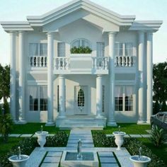 Modern Exterior House Designs, Classic House Exterior, Classic House Design, Modern House Facades, Bungalow House Design, House Front Design, Dream House Exterior, Modern House Design, Plans Architecture