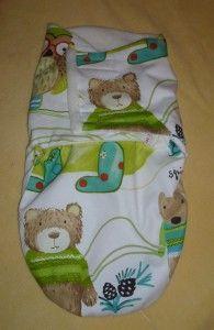 Bear Pattern Baby Swaddle Wrap