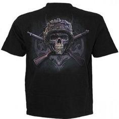 T-shirt homme avec squelette militaire T Shirt, Mens Tops, Fashion, Gothic Clothing, Skeleton, Military Personnel, Supreme T Shirt, Moda, Tee Shirt