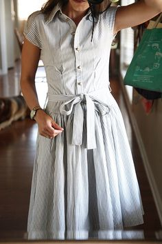 button down dress - Super cute and so versatile!