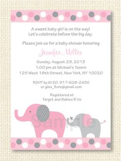 Elephant cutouts for baby showers elephant baby girl shower elephant cutouts for baby showers elephant baby girl shower invitation printable diy baby purple shower pinterest baby showers elephant baby filmwisefo Images