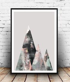 Aquarell drucken geometrische Kunst abstrakte von Wallzilla auf Etsy