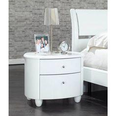 Birlea Furniture Aztec Nightstand In White High Gloss