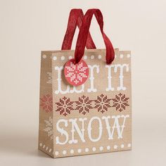 #ModernDestiny  WorldMarket.com: Small Let it Snow Gift Bag