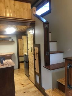 This is a Shaker Tiny House on Wheels built by Aneides Tiny Homes in North Carolina and it's for sale! The 176 sq. ft. space includes tons of beautiful wood-working, ample storage, and even a…