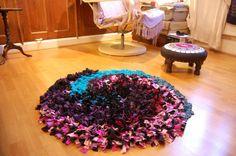 alfombra de retazos de tela