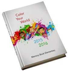 Splatter — Bright and creative, this yearbook cover captures the lively spirit of elementary aged children.