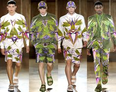 Givenchy: Menswear Spring 2012 Trends: Wild Prints | Tom & Lorenzo Fabulous & Opinionated