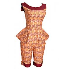 Ankara Styles Tops Peplum ankara top with short