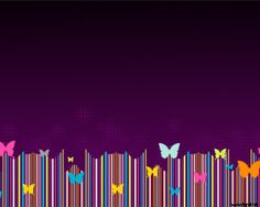 Free butterflies PowerPoint template