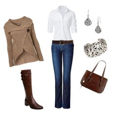 Outfit | Jeans | Long sleeve  | Large bag/ purse | Cute and Casual