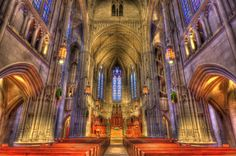 Heinz Memorial Chapel, a Pittsburgh History and Landmarks Foundation Historic Landmark and a contributing property to the Schenley Farms National Historic District on the campus of the University of Pittsburgh.