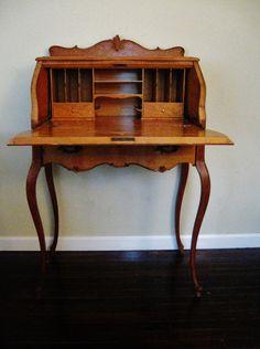 Reserved Carrie Burlwood Desk,burlwood Secretary,vintage Desk,french Desk,french…
