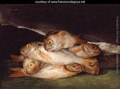 Still Life with Golden Bream 1808 12 - Francisco De Goya y Lucientes - www.franciscodegoya.net