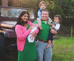 Half indian white family