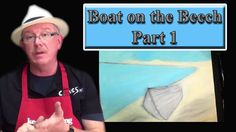 Beginners, Acrylic, Painting ,Tutorial- Boat On The Beech prt1