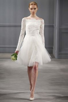 Lace sleeves and tiered tea length skirt. Vintage via Elizabeth ...