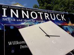 C-CLOCK im InnoTruck  -  Wanduhr, Carbonbeton, InnoTruck, BMBF Clock, Wall, Home Decor, Wall Clocks, Education, Watch, Homemade Home Decor, Clocks