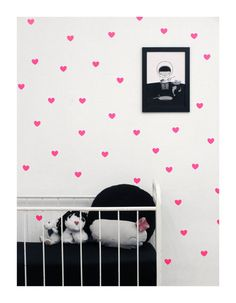 Pink heart wall decals wall stickers wall decor by tayostudio, $15.00