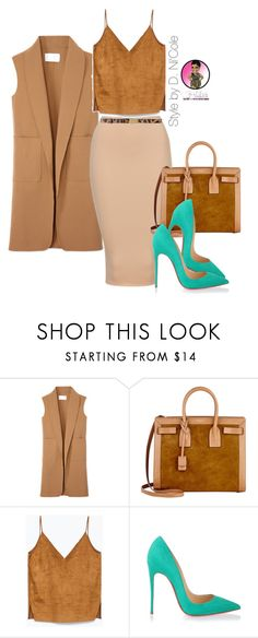 """Untitled #2497"" by stylebydnicole ❤ liked on Polyvore featuring Alexander Wang, Yves Saint Laurent, Christian Louboutin and Dolce&Gabbana"