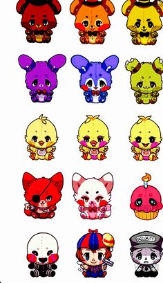 witchpaws: A personal project of mine where I wanted to draw all of the FNAF as cute plushies! Tried to make them as least terrifying as possible even though they're supposed to be scary they're sooo cuteee Five Nights At Freddy's, Chibi, Foxy And Mangle, Fnaf Wallpapers, Fnaf Characters, Fnaf Sl, Fnaf Drawings, Fnaf Sister Location, Anime Fnaf