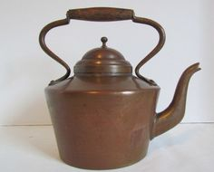 Vintage Copper Tea Kettle Stove Top  Hot Water Teakettle Vintage Teapots Kitchen Gifts by KozyKitchy on Etsy